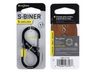 Nite Ize S-Biner #3 Slidelock Stainless Black
