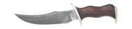 Damascus Bowie Large Hunting Knife